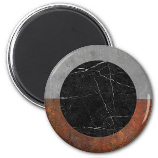 Abstract - Marble, Concrete, Rusted Iron 6 Cm Round Magnet