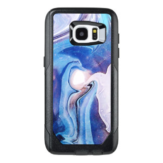 Abstract Marble Swirls Blue White & Purple GR45 OtterBox Samsung Galaxy S7 Edge Case