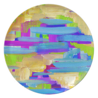 Abstract Marsh Plate