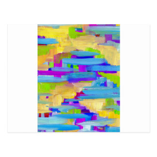 Abstract Marsh Postcard