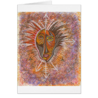 Abstract mask card