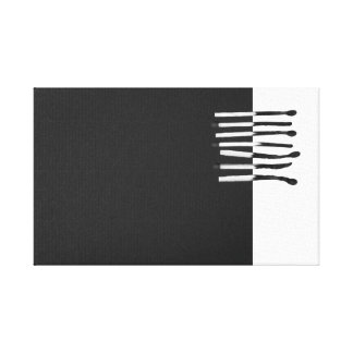 Abstract matches black blank stretched canvas prints