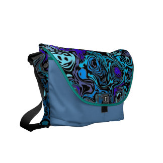 Abstract Mdnight Breeze Messenger Bag