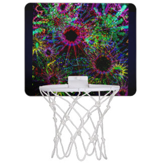 Abstract Meadow Design Mini Basketball Hoop