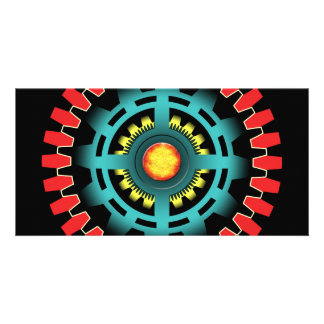 Abstract mechanical object photo greeting card