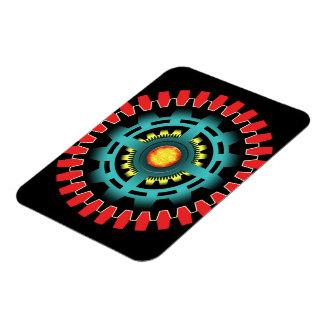 Abstract mechanical object rectangular photo magnet