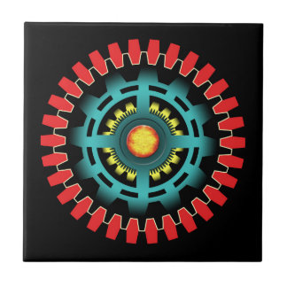 Abstract mechanical object tile