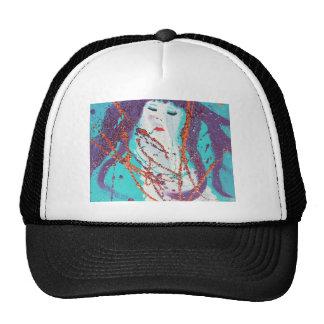 Abstract mermaid colour cap