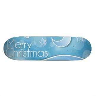 Abstract Merry Christmas 21.6 Cm Old School Skateboard Deck