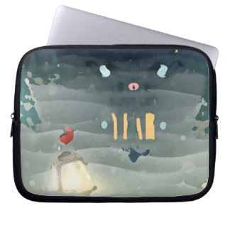 Abstract _merry christmas_funda_10 laptop sleeve