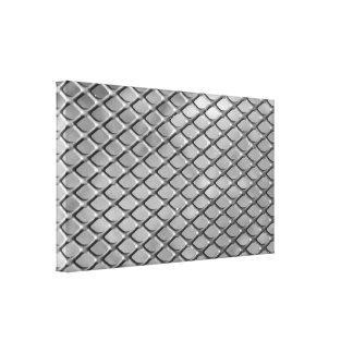 Abstract Metal Grid Stretched Canvas Prints