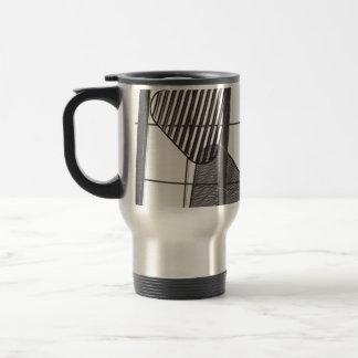 abstract metal shapes design mugs
