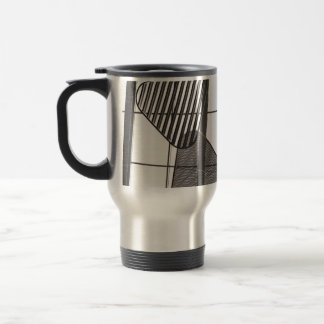 abstract metal shapes design mugs