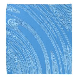 abstract metallic blue texture. bandana