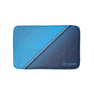 Abstract metallic brushed surface texture. bath mat
