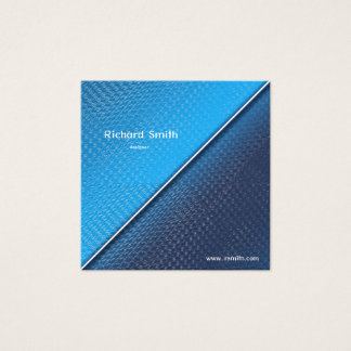 Abstract metallic brushed surface texture. square business card