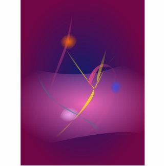 Abstract Microorganism Purple Brown Photo Sculptures