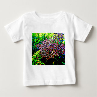Abstract Milkweed Flower in Field Baby T-Shirt