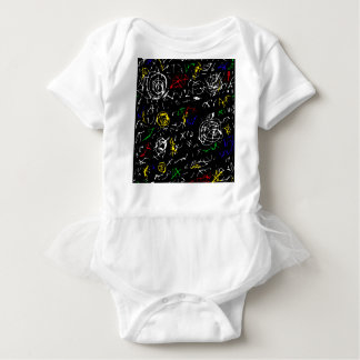 Abstract mind - colorful baby bodysuit