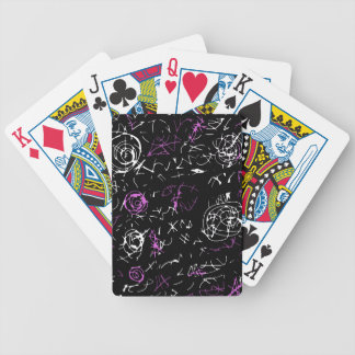 Abstract mind - magenta poker deck