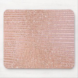 Abstract Minimal Rose Gold Pink Glitter Grill Mouse Pad