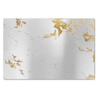 Abstract Minimal Silver Gray Metallic  Marble Gold Tissue Paper