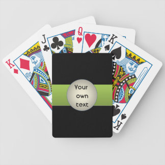 Abstract Minimalism Green Personlized Bicycle Playing Cards