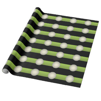Abstract Minimalism Green Wrapping Paper