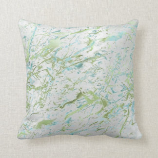 Abstract Mint Green Blue Silver Gray Marble Luxury Cushion