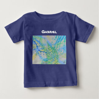 Abstract mixed media pots and plants infant T-Shirt