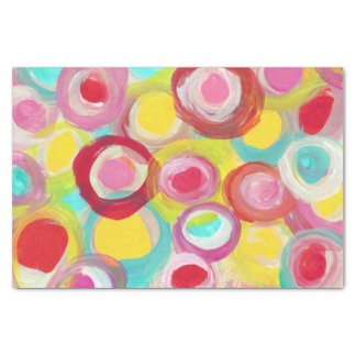 Abstract Modern Art Circle Painting Party Tissue Paper