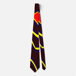 Abstract Modern Art Deep Brown Tie