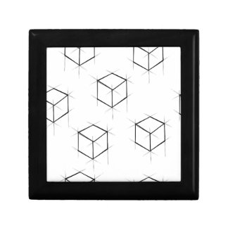 Abstract modern blueprint style cubic boxes