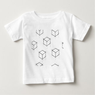 Abstract modern blueprint style cubic boxes baby T-Shirt