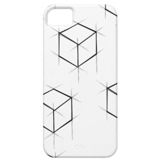 Abstract modern blueprint style cubic boxes iPhone 5 covers