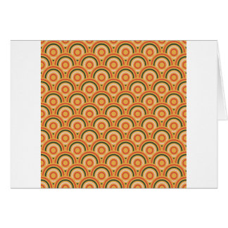 Abstract Modern Concentric Circles Texture Card