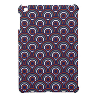 Abstract Modern Concentric Circles Texture iPad Mini Cover