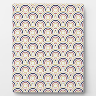 Abstract Modern Concentric Circles Texture Photo Plaques