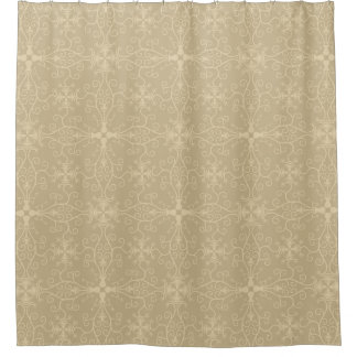 Abstract Modern Contemporary Pattern Beige Shower Curtain