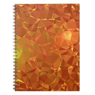 Abstract & Modern Geo Designs - Mandarin Gem Spiral Notebook