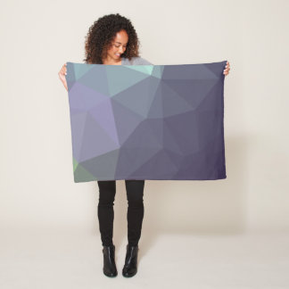 Abstract & Modern Geo Designs - Periwinkle Rain Fleece Blanket