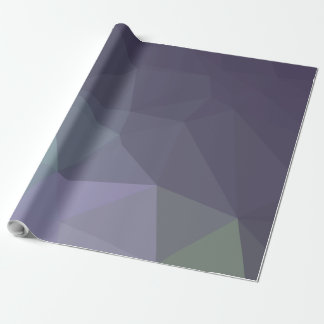 Abstract & Modern Geo Designs - Periwinkle Rain Wrapping Paper