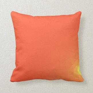 Abstract & Modern Geometric Designs - Fiery Center Cushion