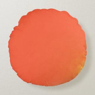 Abstract & Modern Geometric Designs - Fiery Center Round Cushion