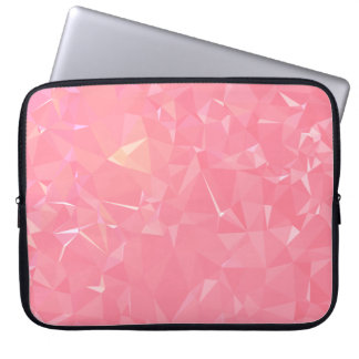 Abstract & Modern Geometric Designs - Floral Coral Laptop Sleeve