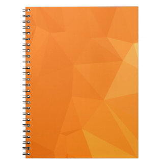 Abstract & Modern Geometric Designs - Ginger Spice Spiral Notebook