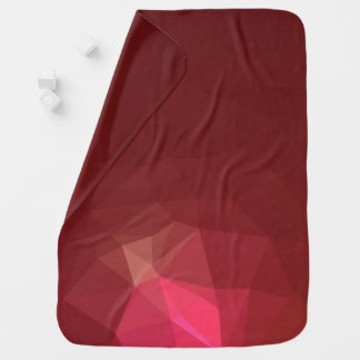 Abstract & Modern Geometric Designs - Scarlet Rose Baby Blanket