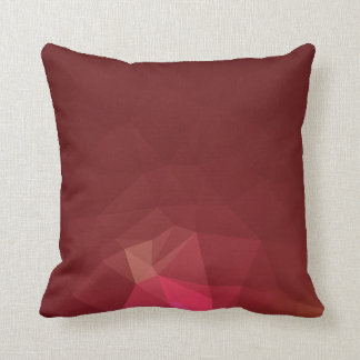Abstract & Modern Geometric Designs - Scarlet Rose Cushion