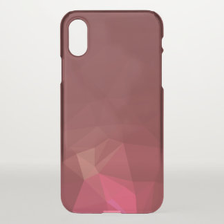 Abstract & Modern Geometric Designs - Scarlet Rose iPhone X Case