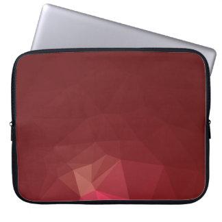 Abstract & Modern Geometric Designs - Scarlet Rose Laptop Sleeve
